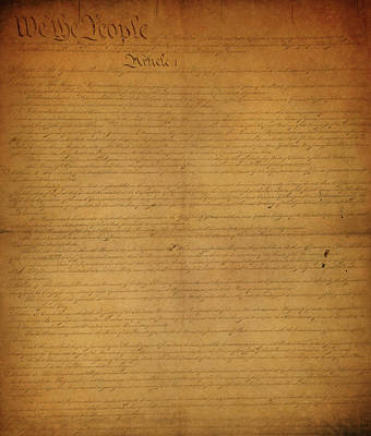 American Flag Mixed Media - The Constitution Of The United States Of America by Dan Sproul