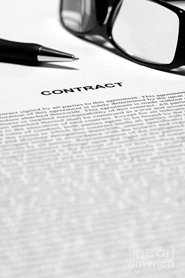 Photograph - The Legal Contract by Olivier Le Queinec