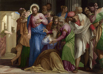 Mary Magdalene Painting - The Conversion Of Mary Magdalene by Paolo Veronese