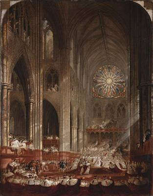 Victoria Painting - The Coronation Of Queen Victoria by John Martin