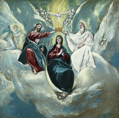 Mary Painting - The Coronation Of The Virgin by El Greco