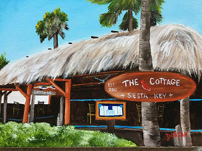 Painting - The Cottage On Siesta Key by Lloyd Dobson