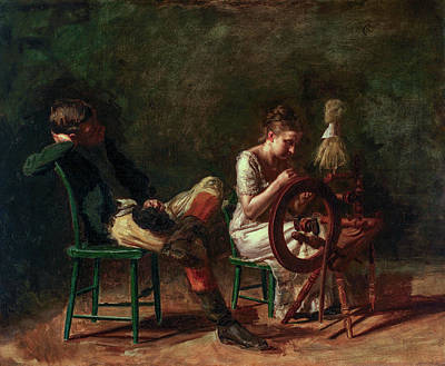 Realist Painting - The Courtship by Thomas Eakins