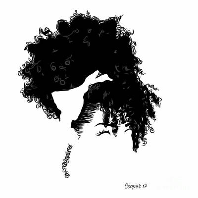Black Kinky Hair Digital Art - The Crown You Will Always Wear 12 by April Cooper