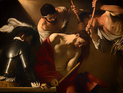 Caravaggio Painting - The Crowning With Thorns by Mountain Dreams
