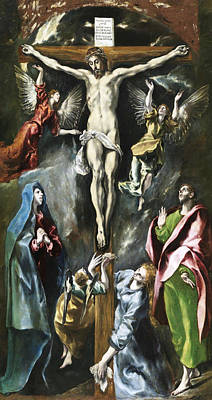 Jesus Art Painting - The Crucifixion by El Greco