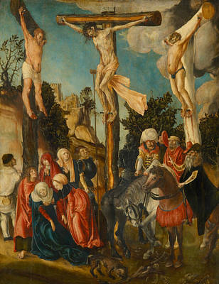 Painting - The Crucifixion by Lucas Cranach the Elder