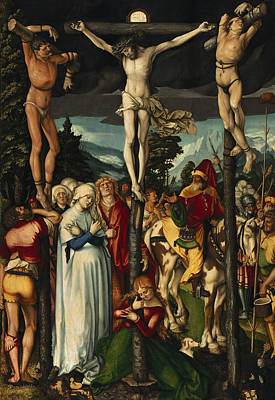 Jesus Art Painting - The Crucifixion Of Christ by Hans Baldung Grien