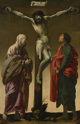 Painting - The Crucifixion With The Virgin And Saint John by Hendrick ter Brugghen