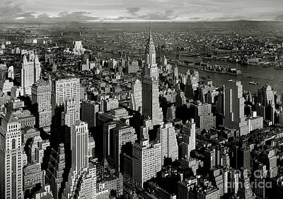 New York City Skyline Photograph - The Crysler Building by Jon Neidert