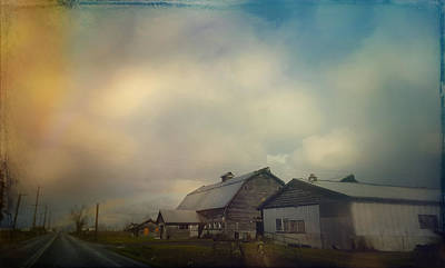 Digital Art - The Dairy Barns  by Cathy Anderson
