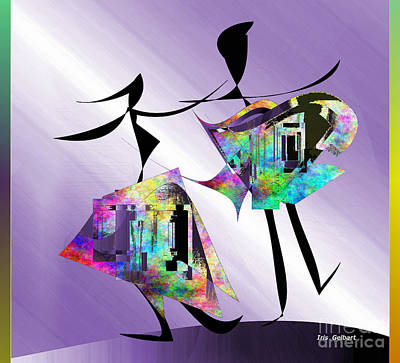 Digital Art - The Dance by Iris Gelbart
