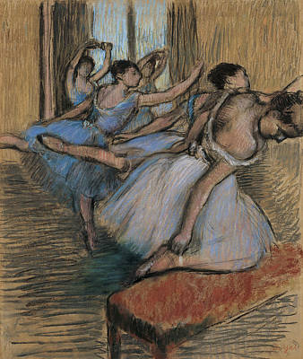Drawing - The Dancers by Edgar Degas