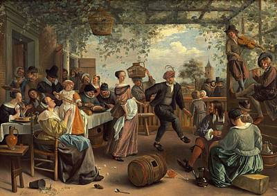 Violine Painting - The Dancing Couple by Jan Steen