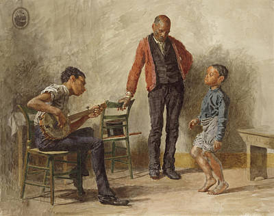 Negro Painting - The Dancing Lesson by Thomas Eakins