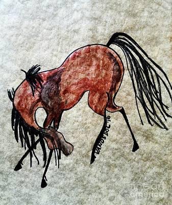 My Little Pony Drawing - The Dancing Pony by Scott D Van Osdol