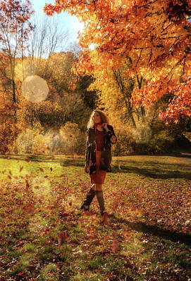 Photograph - The Day In October by Lilia D