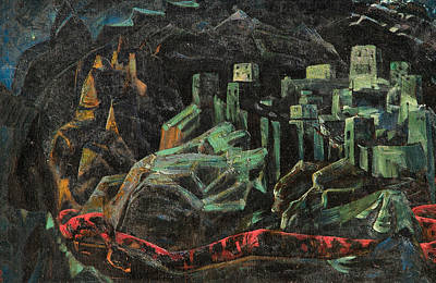 Russian Painting - The Dead City by Nicholas Roerich