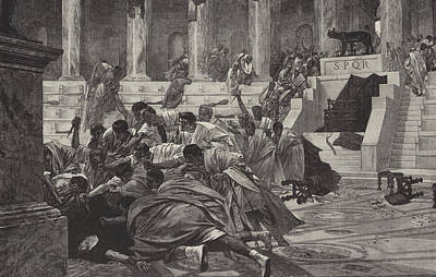 The Death Of Caesar Art Print by English School