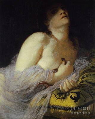 Viper Painting - The Death Of Cleopatra by Arnold Bocklin