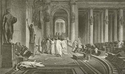 The Death Of Julius Caesar Art Print by Jean Leon Gerome