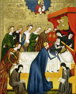 St. Clare Painting - The Death Of Saint Clare by Master of Heiligenkreuz