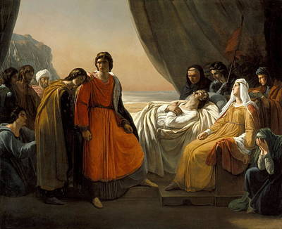 Painting - The Death Of Saint Louis by Celestial Images