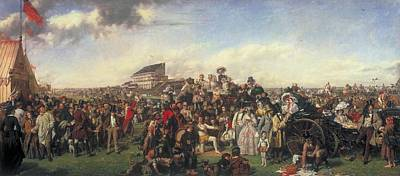 The Derby Day Art Print by William Powell
