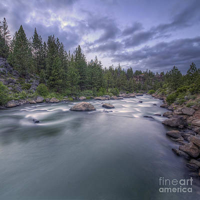 Whitewater Photograph - The Deschutes River At Dusk by Twenty Two North Photography