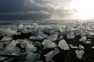 Photograph - The Diamond Beach, Jokulsarlon, Iceland by Dubi Roman