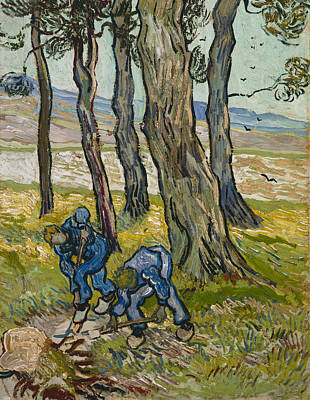 Agriculture Painting - The Diggers by Vincent van Gogh