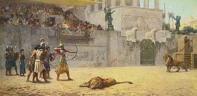 Painting - The Diversion Of An Assyrian King by Frederick Arthur Bridgman