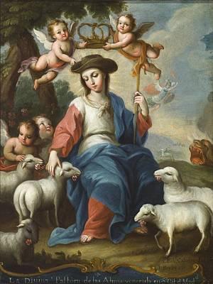 The Divine Shepherdess Art Print