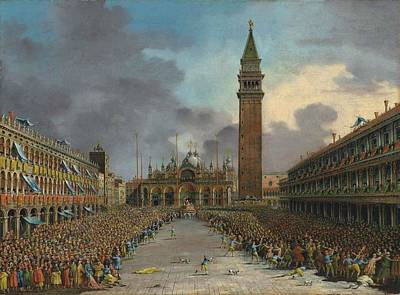 Cockpit Painting - The Doge In The Cockpit In Piazza San Marco by Giovanni Grubacs