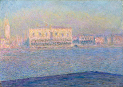 Palace Painting - The Doge's Palace Seen From San Giorgio Maggiore by Claude Monet