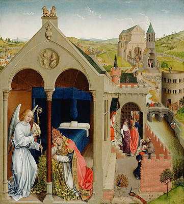 Moral Painting - The Dream Of Pope Sergius by Rogier van der Weyden