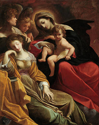 Painting - The Dream Of Saint Catherine Of Alexandria by Lodovico Carracci