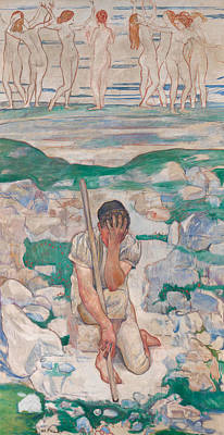 Painting - The Dream Of The Shepherd by Ferdinand Hodler