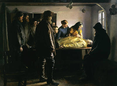 Drown Painting - The Drowned Fisherman by Michael Ancher