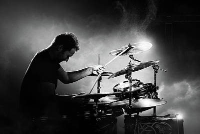 Music Photograph - The Drummer by Johan Swanepoel