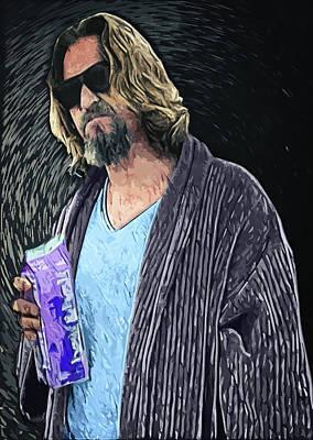 Jesus Digital Art - The Dude by Taylan Apukovska