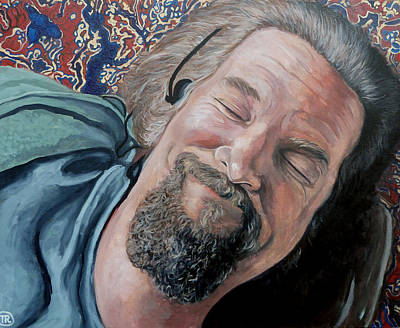 Jeff Bridges Painting - The Dude by Tom Roderick