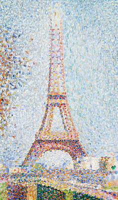 Pointillist Painting - The Eiffel Tower by Georges Pierre Seurat
