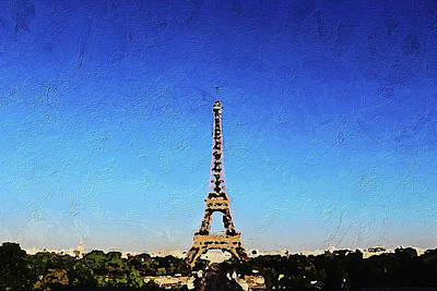 Painting - The Eiffel Tower by PixBreak Art