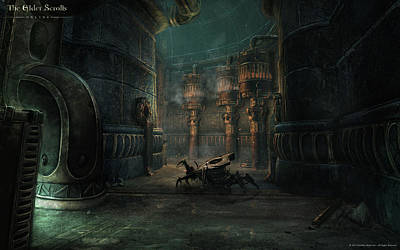 Architecture Digital Art - The Elder Scrolls Online by Super Lovely