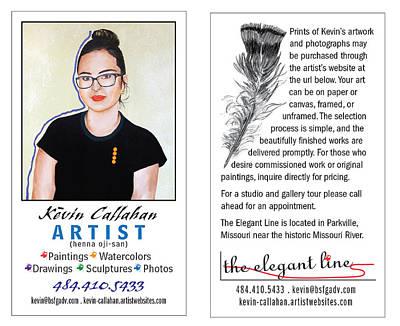 Digital Art - The Elegant Line Business Card by Kevin Callahan