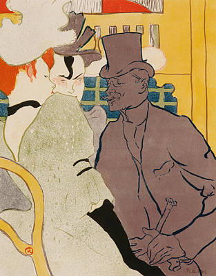 Post-impressionism Painting - The Englishman At The Moulin Rouge by Henri de Toulouse-Lautrec