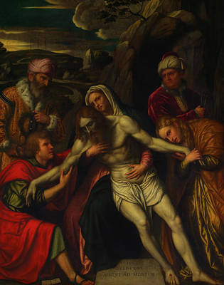 Painting - The Entombment by Moretto Da Brescia