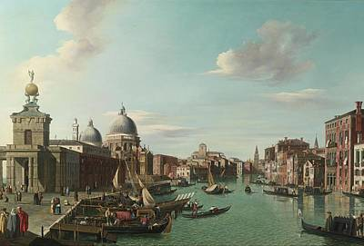 The Entrance To The Grand Canal Looking Wes Art Print