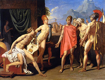 Trojan Painting - The Envoys Of Agamemnon by Jean-Auguste-Dominique Ingres